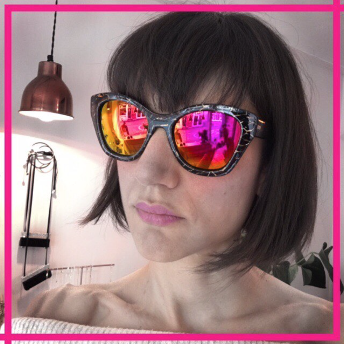 Pink mirror lenses. from £20