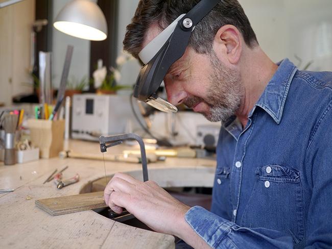 Alex Monroe at work in his studio
