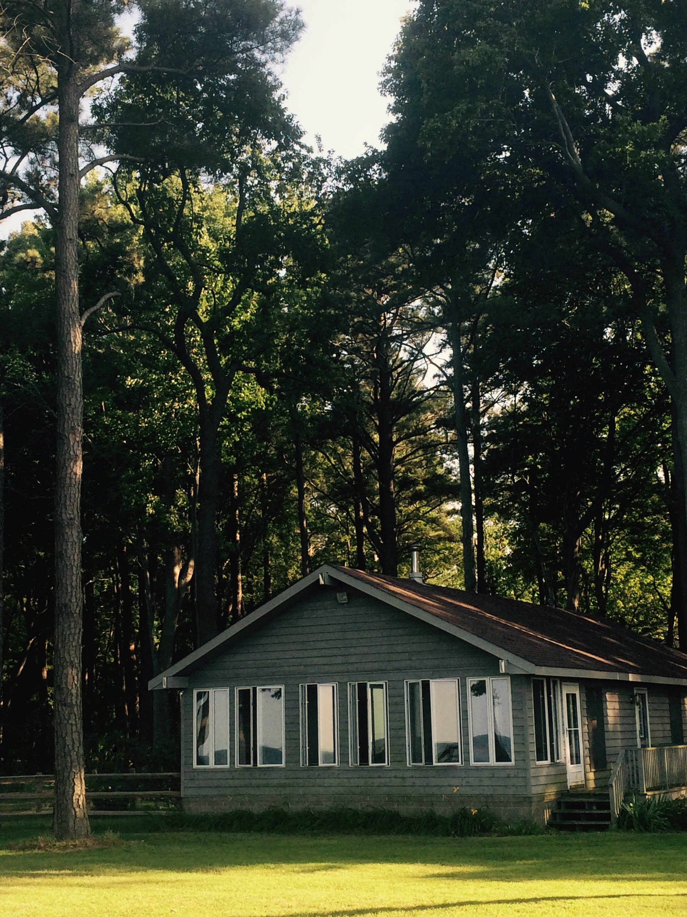 Our research base, back in the woods of the Norther Neck of Virginia.  Photo by Desirae Cambrelen.