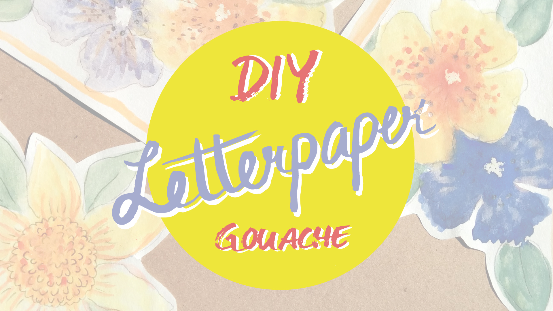Your first Steps with Gouache: How to Create your own Letter Paper