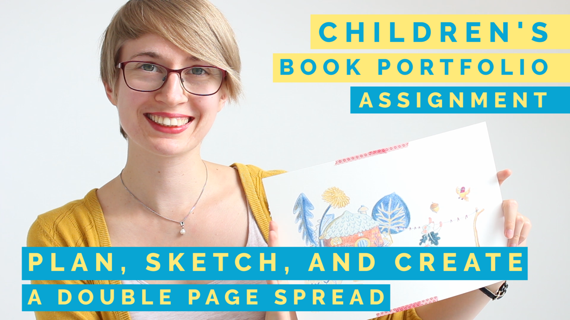 childrens picture book assignment with prompts, self-paced online course for beginners by romica spiegl-jones