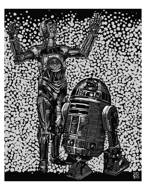 Steve Parke, C-3PO & R2-D2