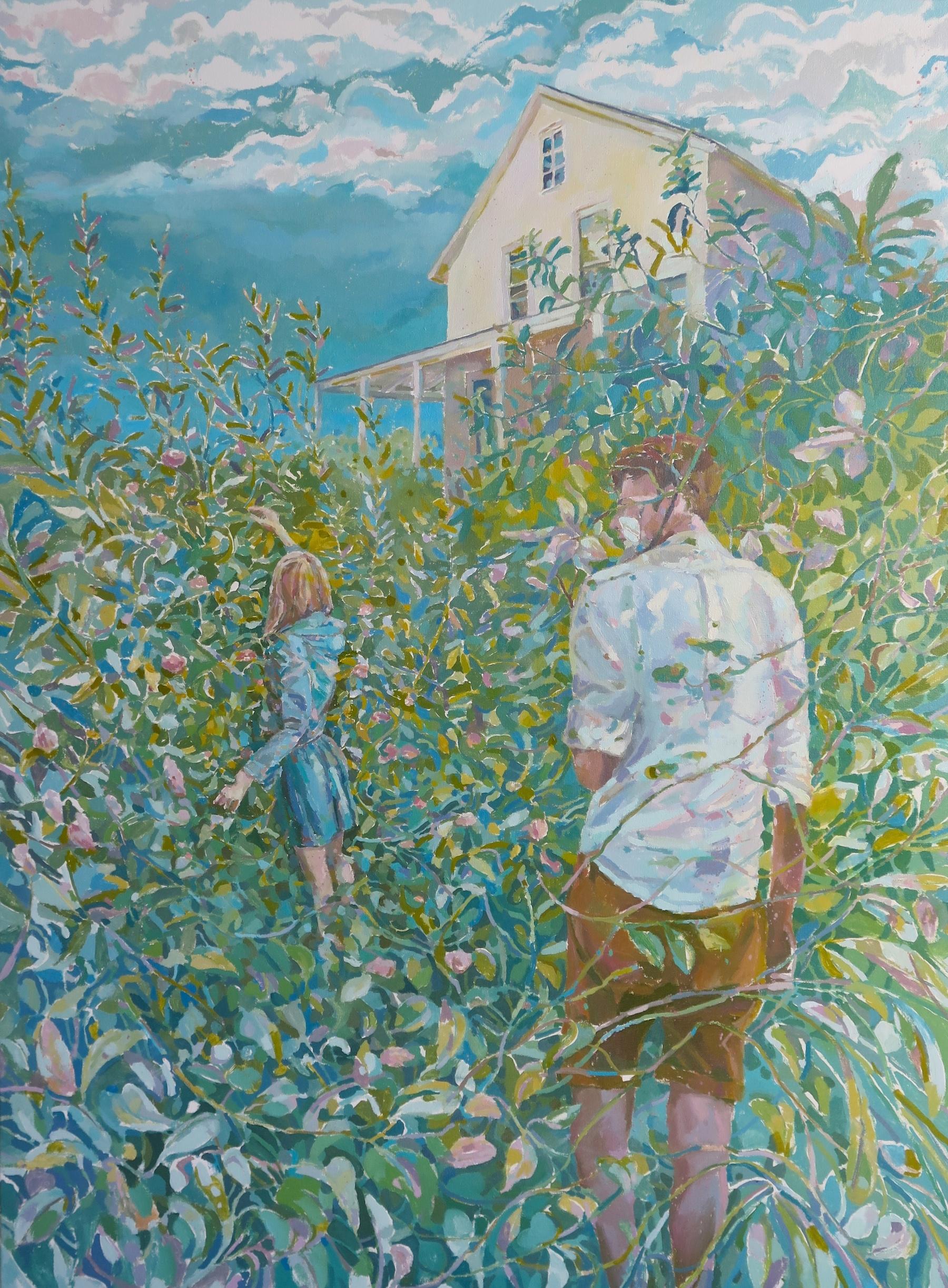 Rob Sparrow Jones, Rosa acicularis, 2016, oil on canvas, 48 x 36 inches