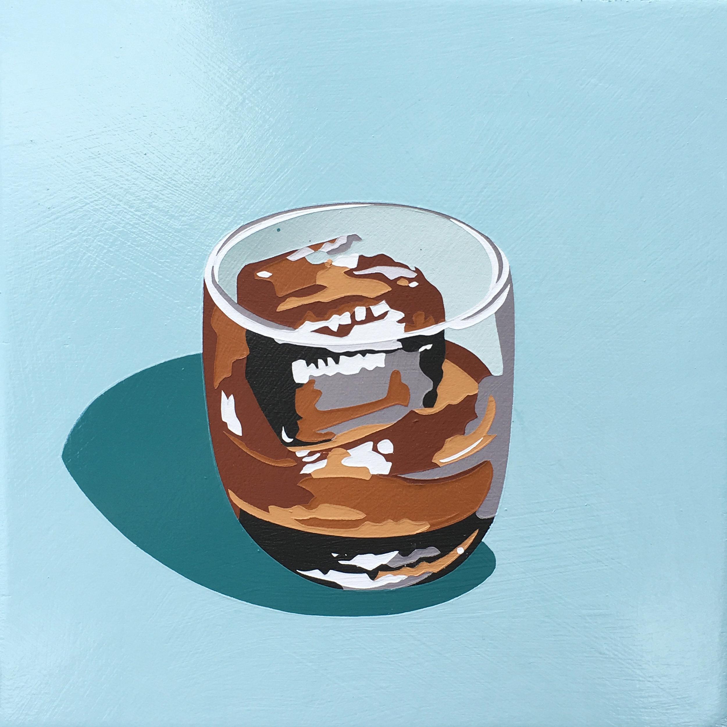 Bourbon Cocktail (one cube)