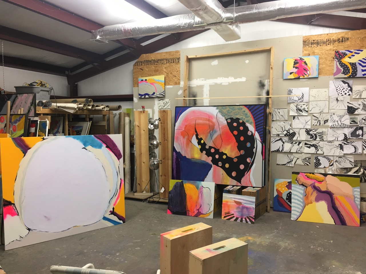 view in Bodkin's studio