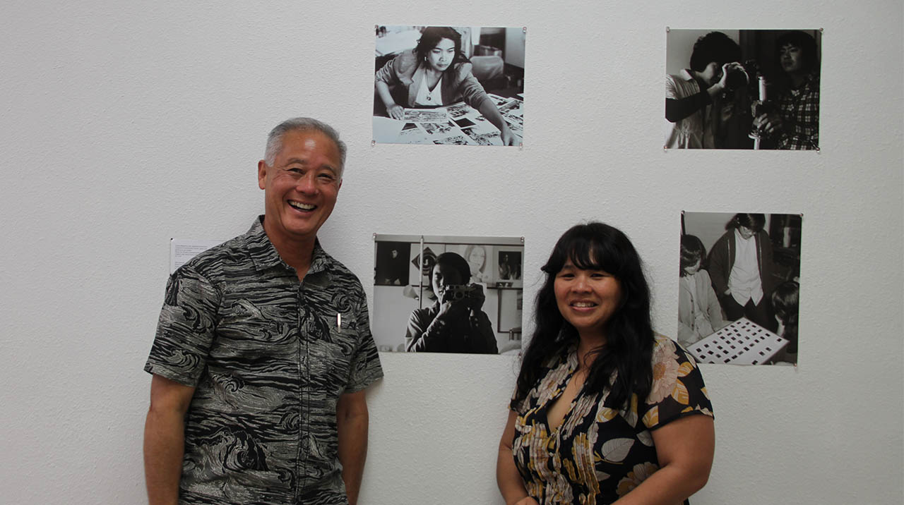 Veteran Visual Communications still photographer Ed Ikuta and curator Yuri Shimoda. (Photo: Abraham Ferrer/Visual Communications Photographic Archive)