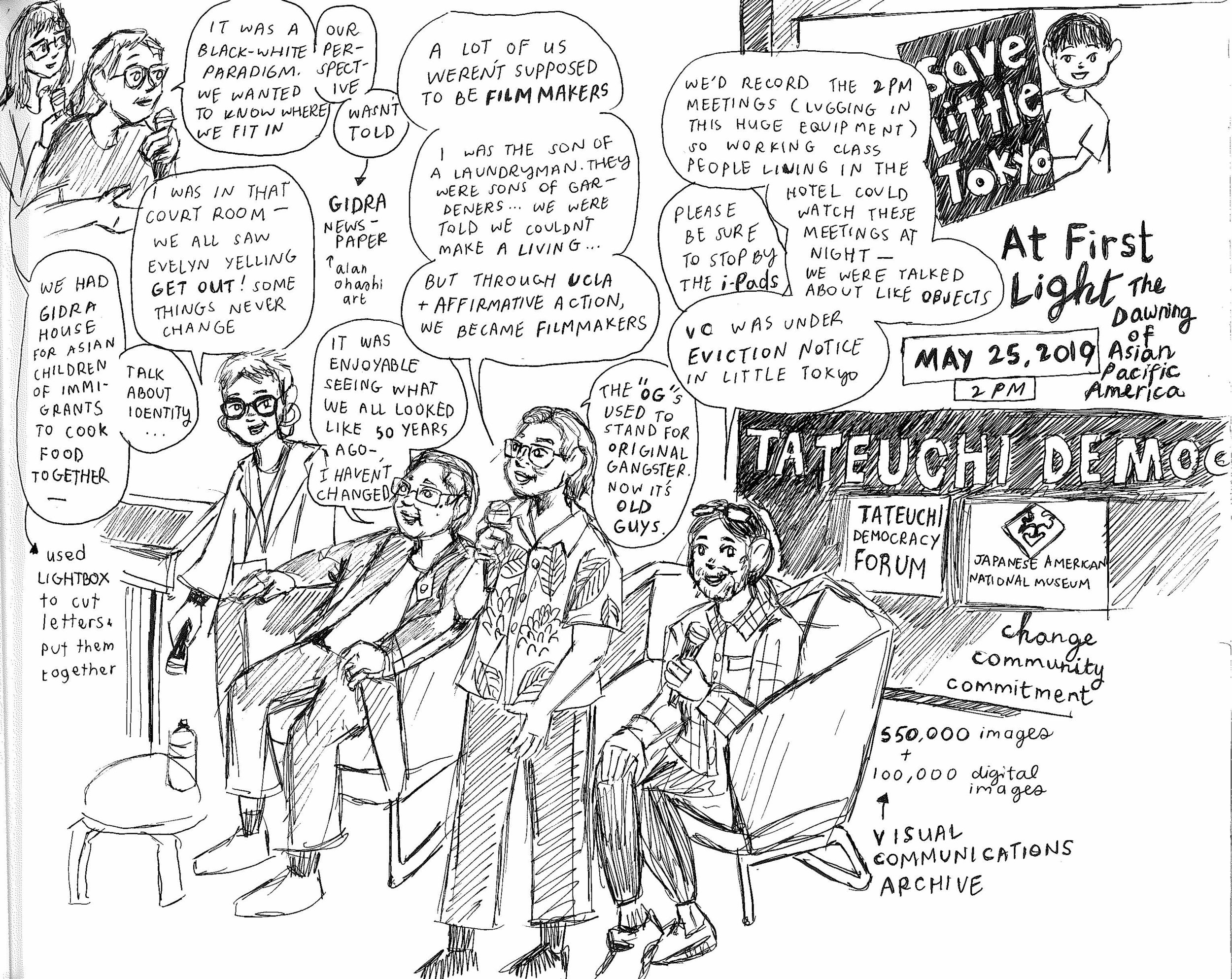 Sketch by Angel Trazo, one of the attendees of the event