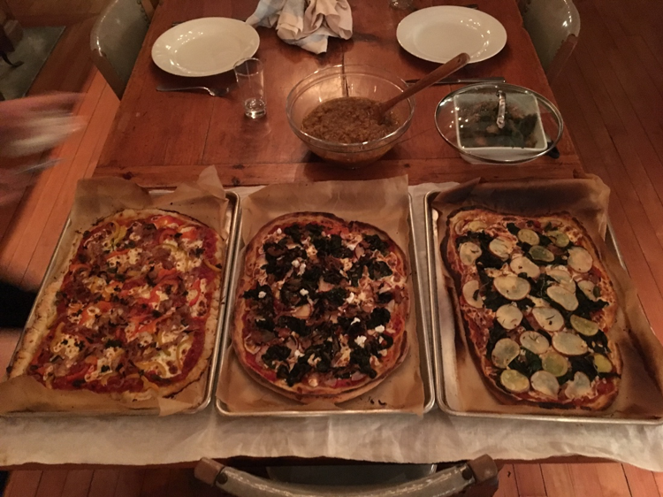 I made pizza dinner one night with another resident.