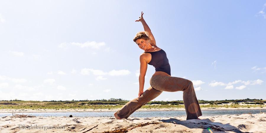 Sarah Sturges, yoga photo shoot at Crane's Beach with Kadri Kurgun Photography