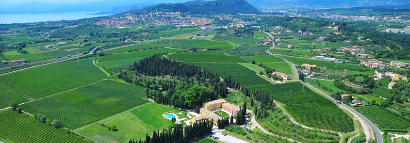 Arial view of Villa Cordevigo
