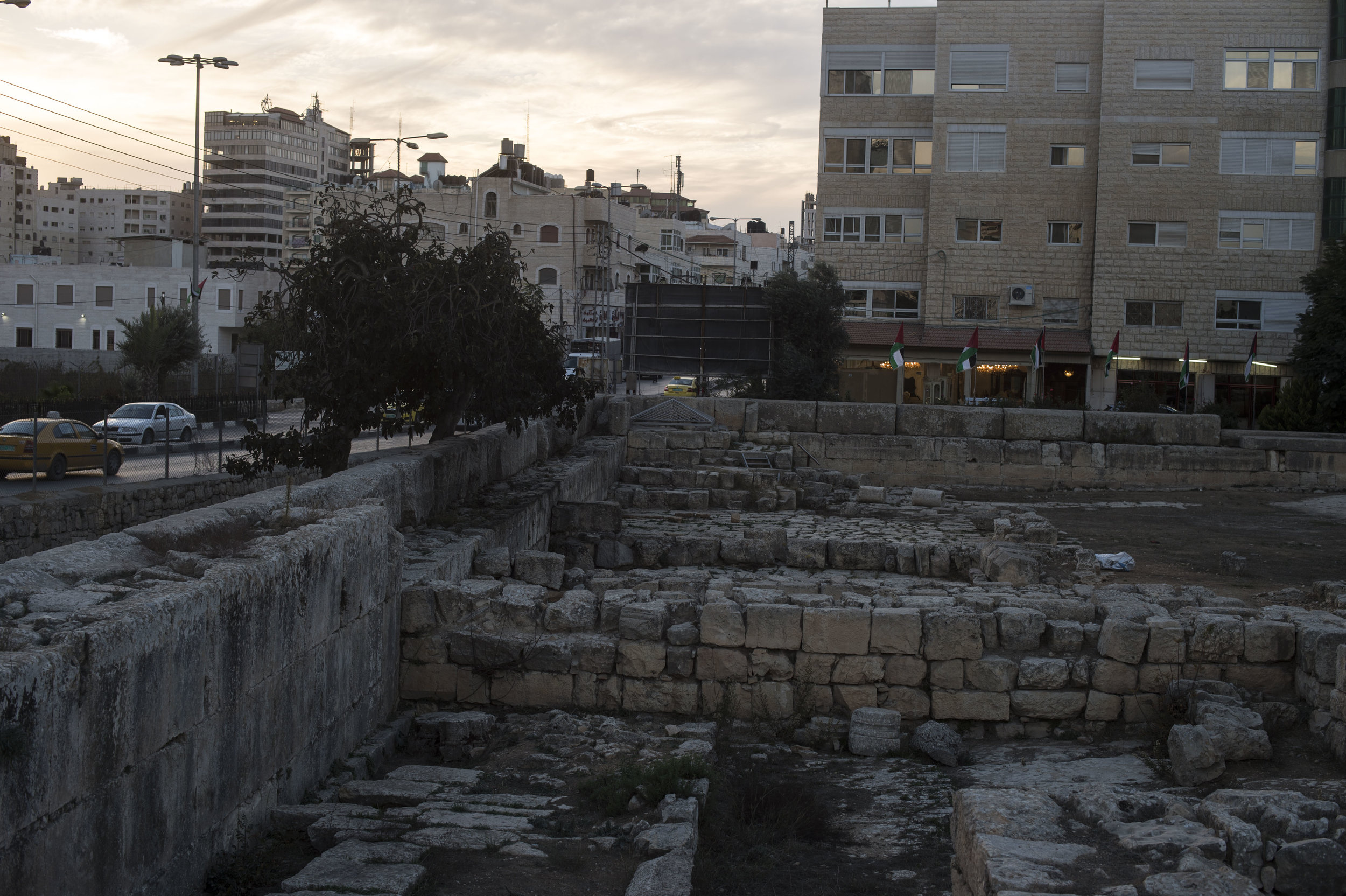 These are the beginnings of the mosque, before it was then relocated.