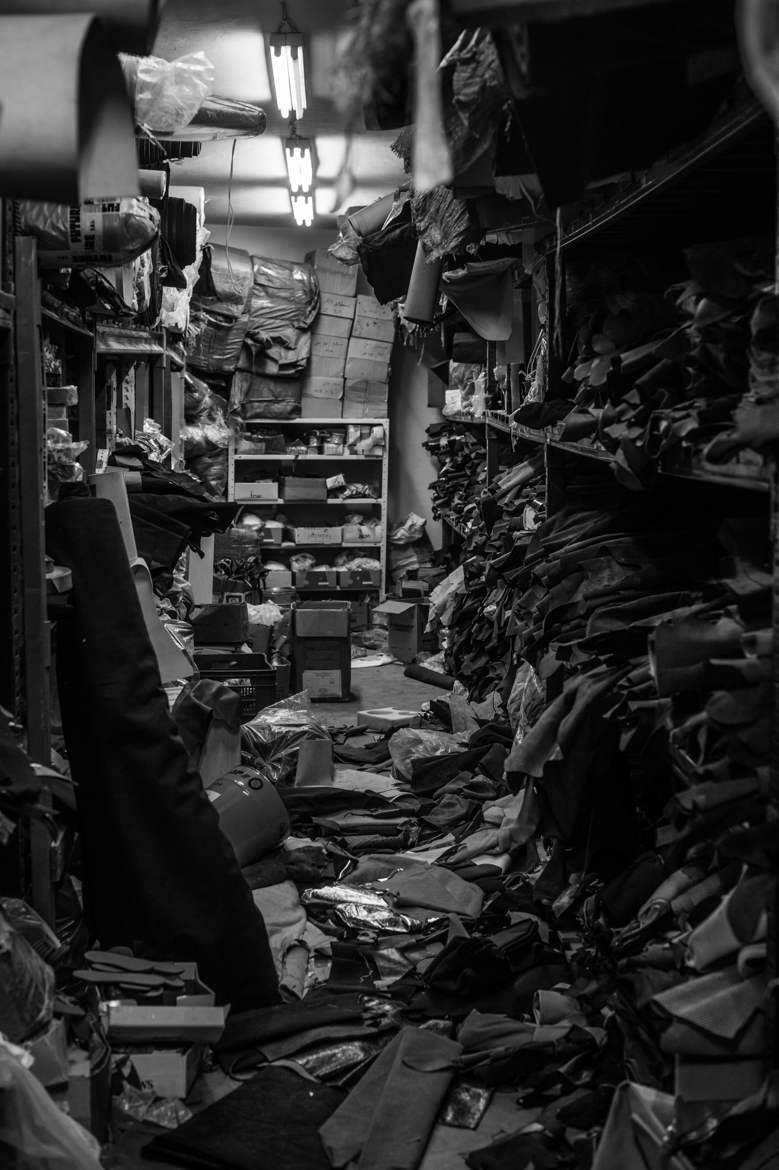 Leather Stock Pile, Hebron, 2016