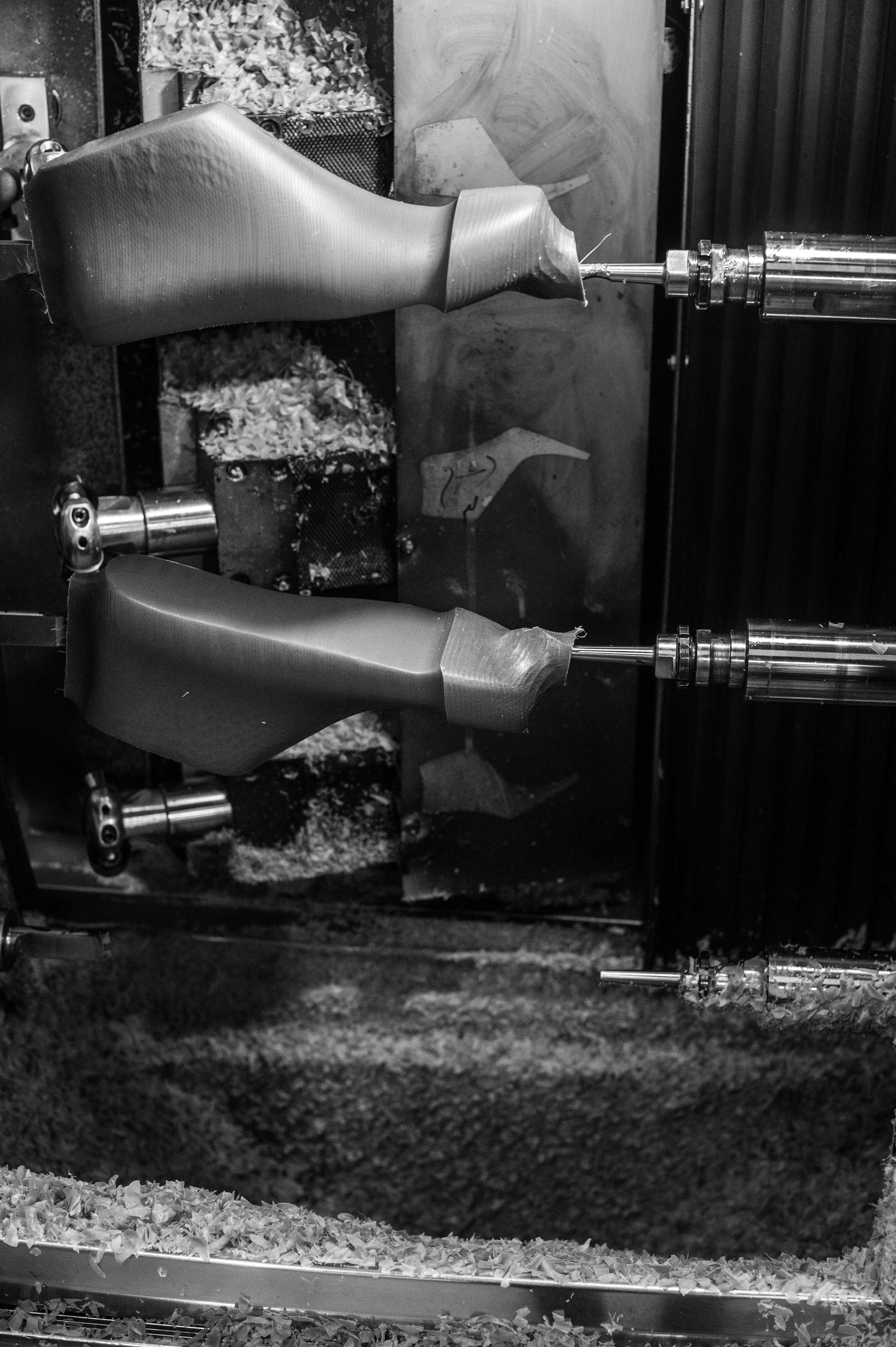 Shoe Mould laser cutter, Hebron, 2016