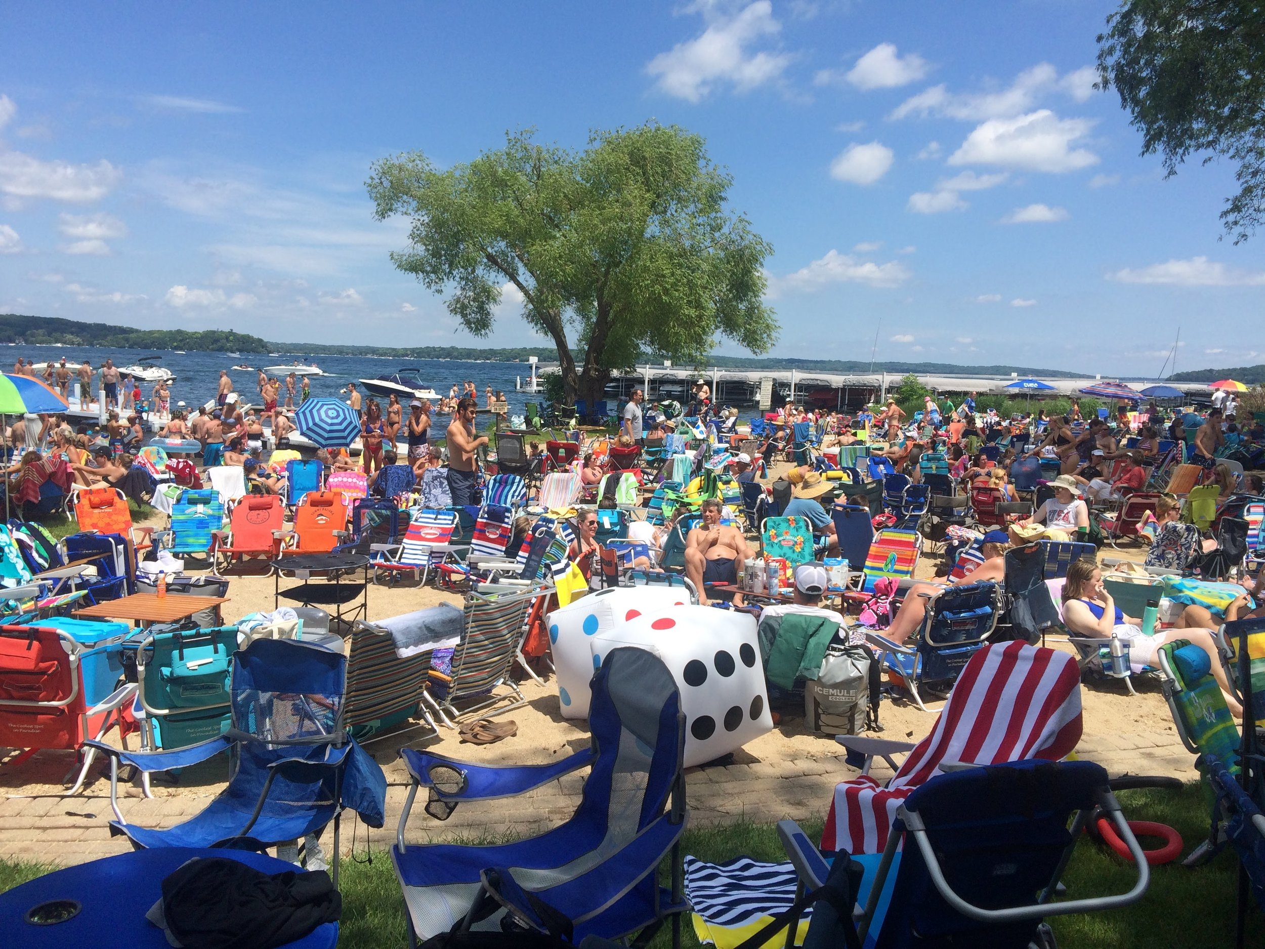Off to Lake Geneva in Wisconsin where their July 4th celebration was quite a big event