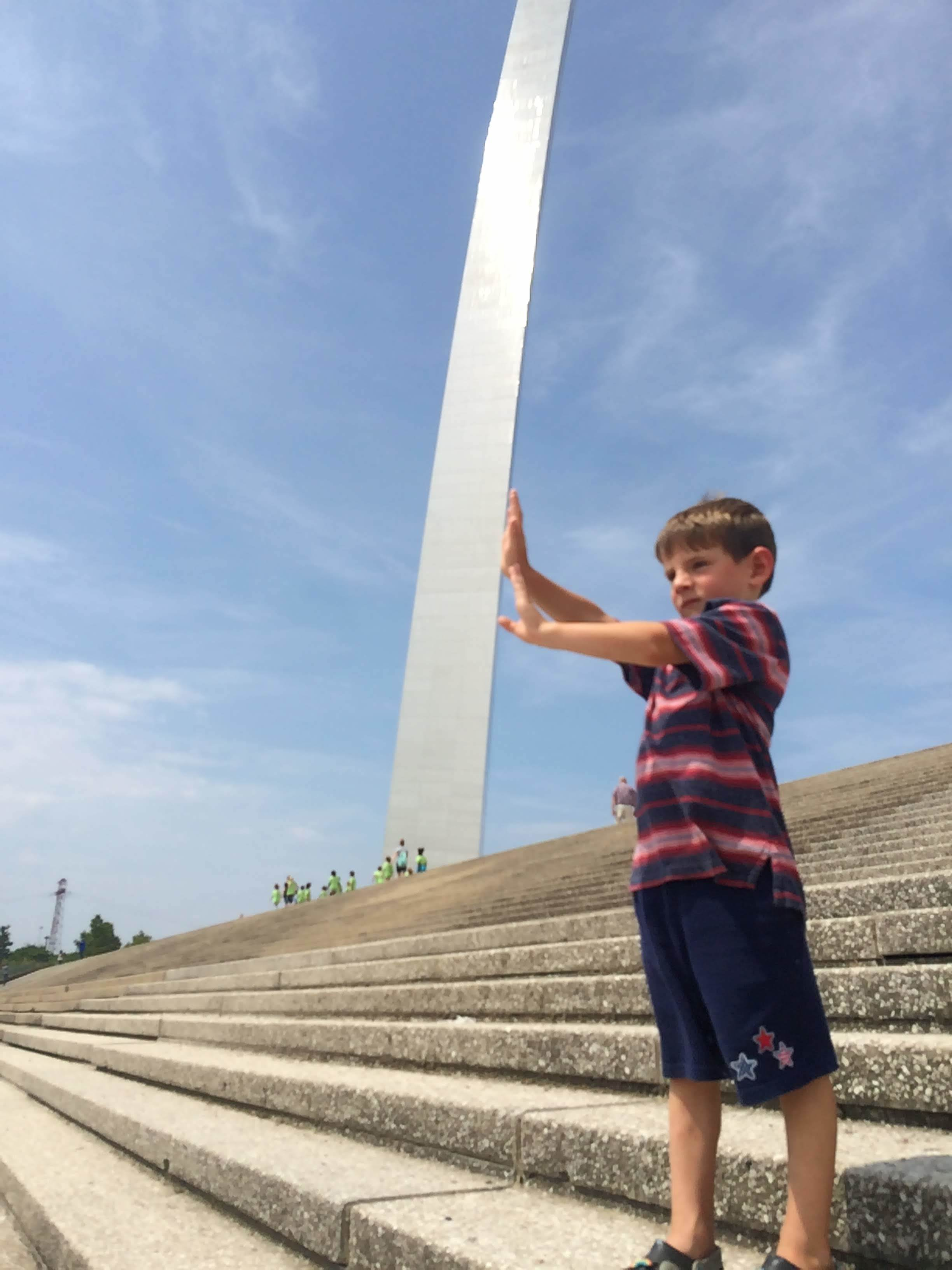 St. Louis Arch! Ollie got a kick out of this trick photo.