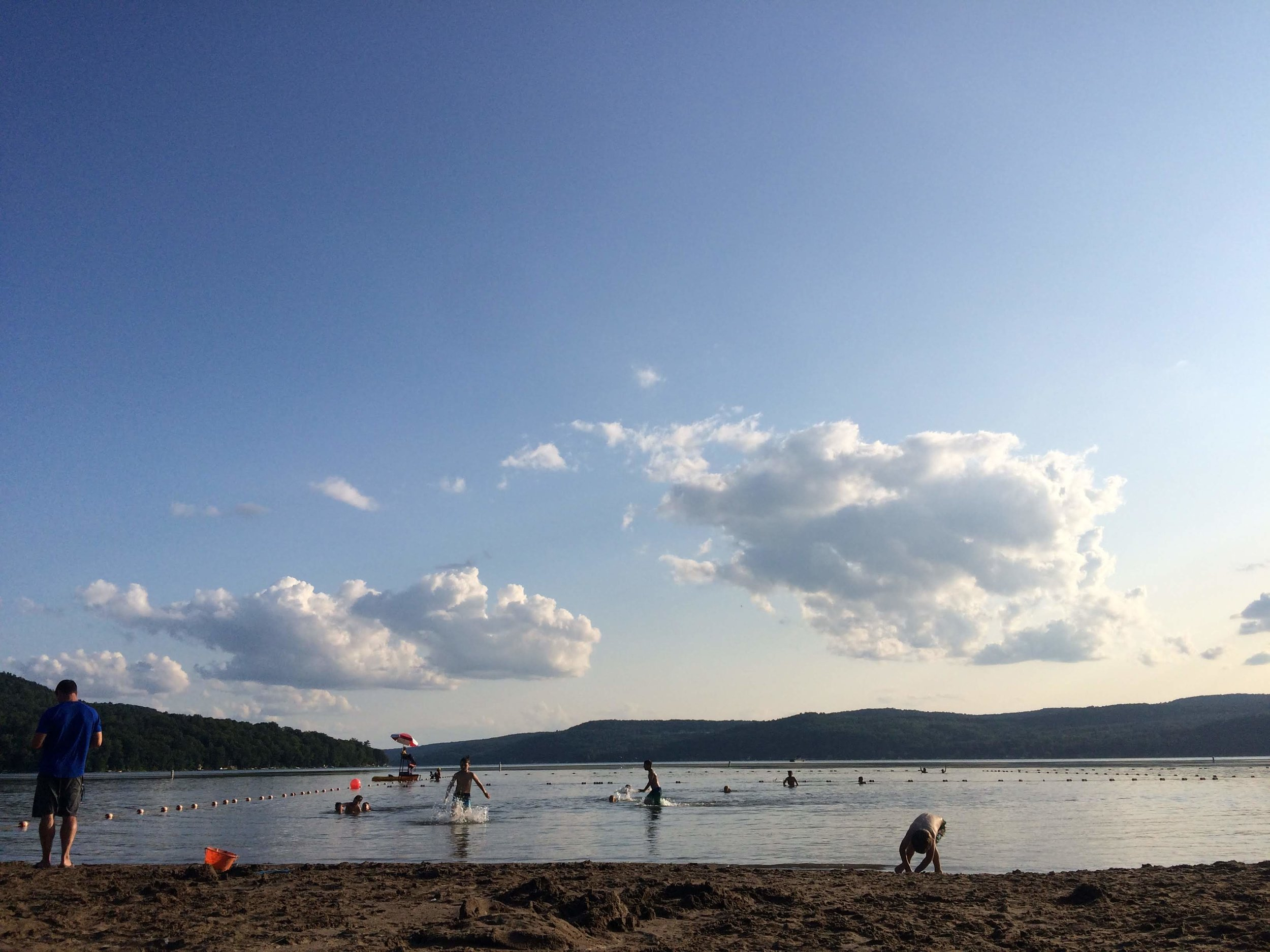 Our last camping spot, Glimmerglass State Park in Ny - kinda sad. But I think we are both done, ready to get home!