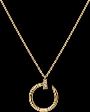JUSTE UN CLOU NECKLACE Yellow gold diamonds.png