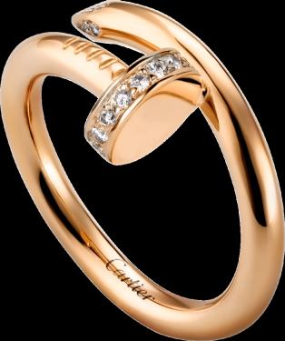 JUSTE UN CLOU RING Pink gold, diamonds.png
