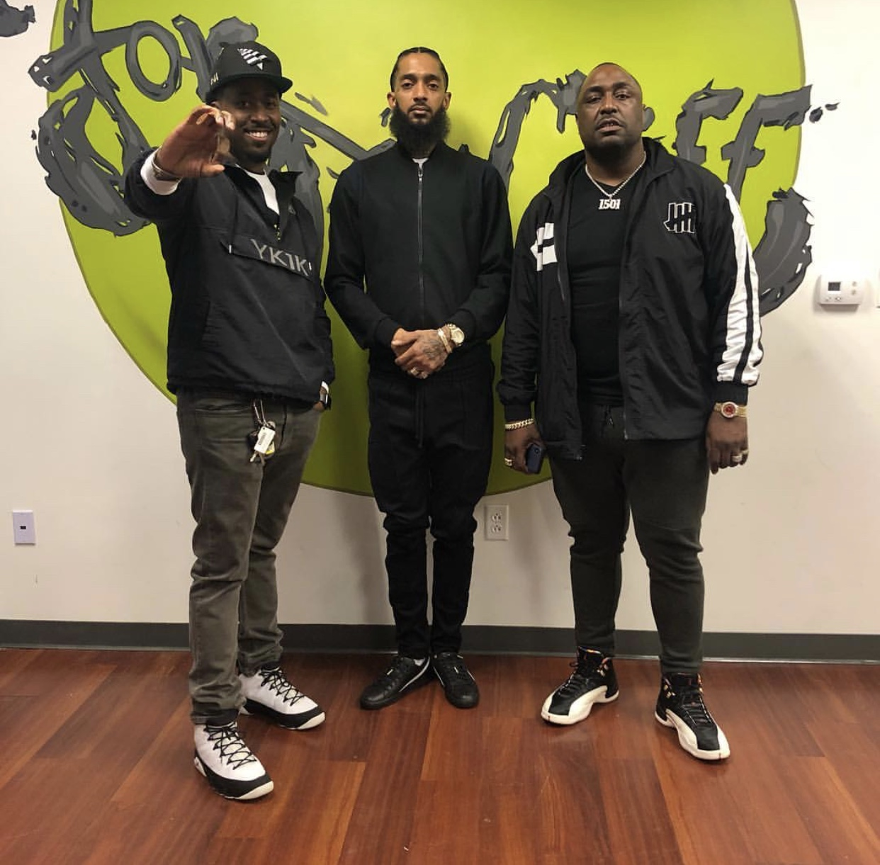 K104's DJ Bay Bay visited the For Oak Cliff Community Center with rapper Nipsey Hussle in February 2019.