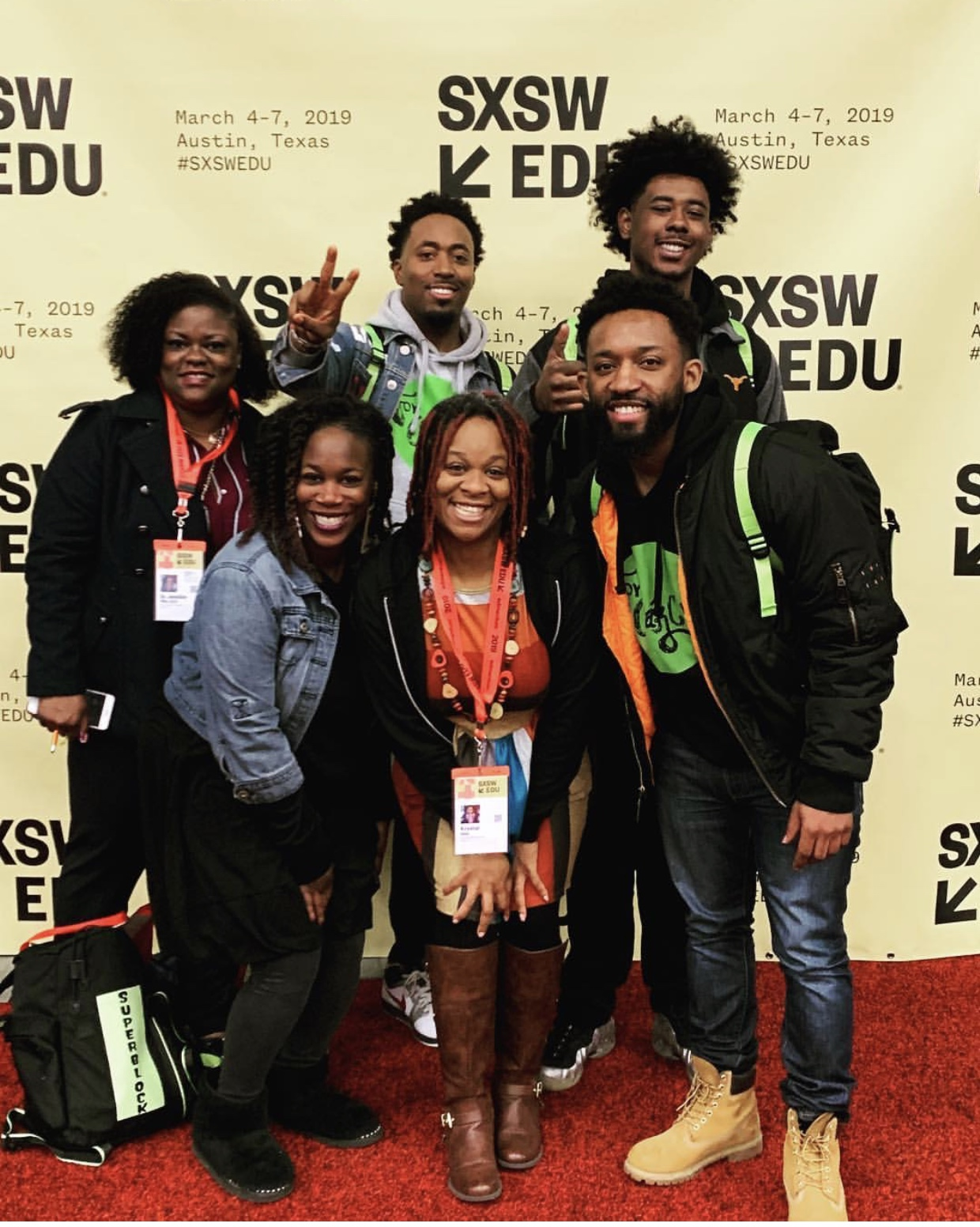 The For Oak Cliff team at the SXSW EDU conference in Austin, Texas