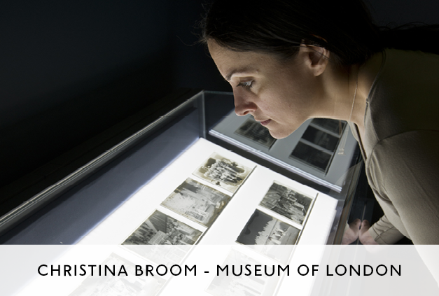 Christina Broom Exhibition at Museum of London by Mowat and Co