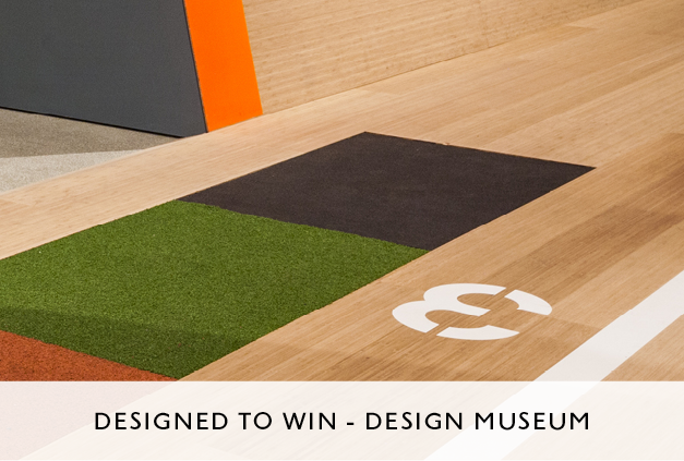 Designed to Win Exhibition at Design Museum by Mowat and Company