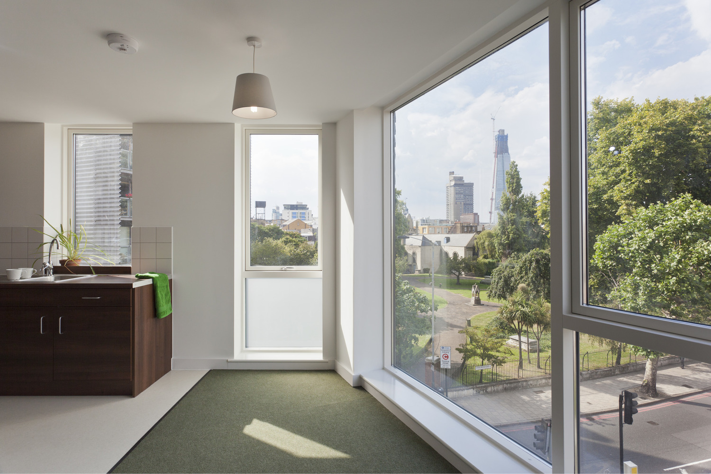 Interior Photograph of Housing Development for Igloo Regeneration and Hexagon Housing in Bermondsey