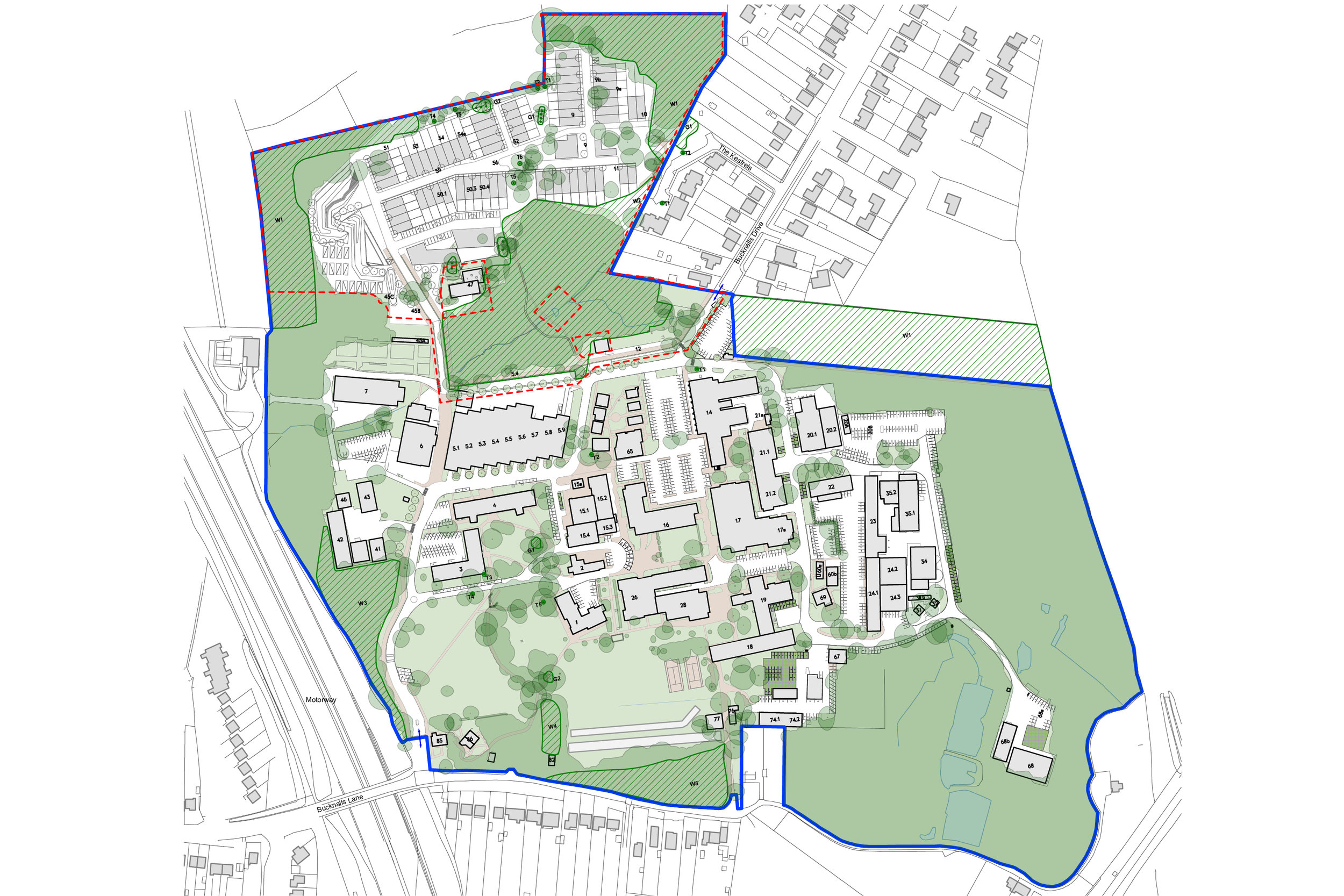 Masterplan of Building Research Establishment Campus in Watford