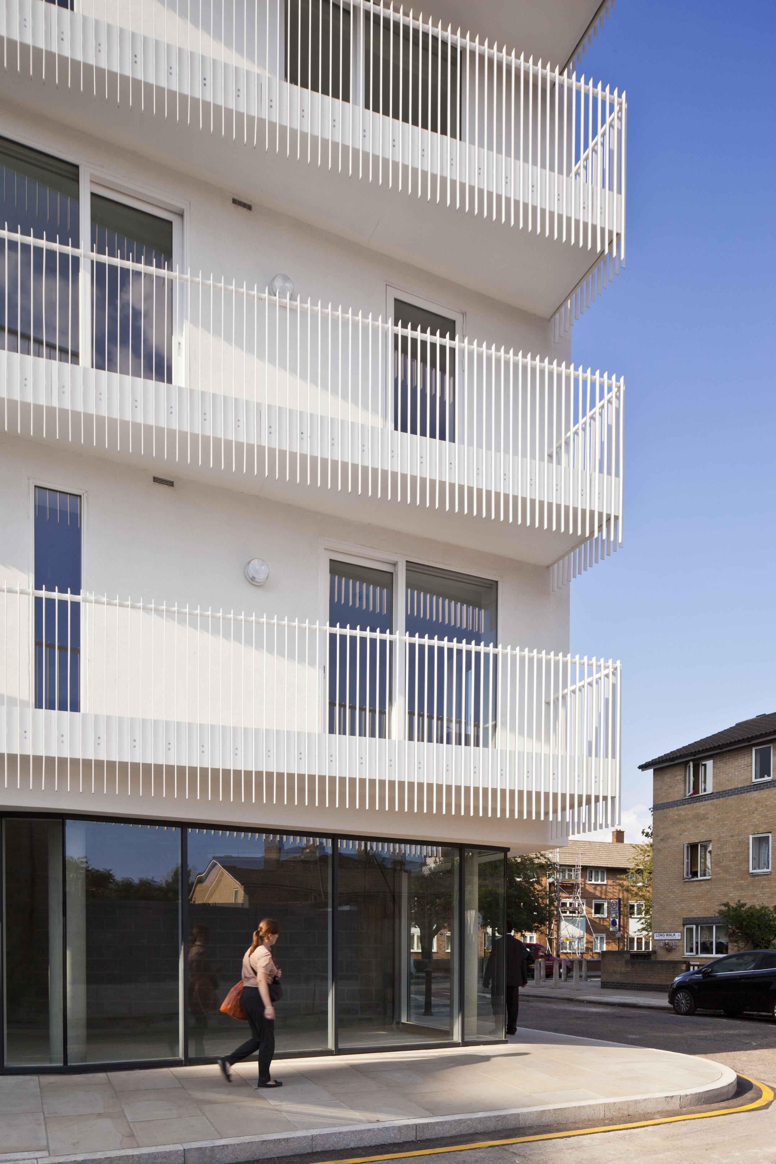 Street Level of Housing Development for Igloo Regeneration and Hexagon Housing in Bermondsey