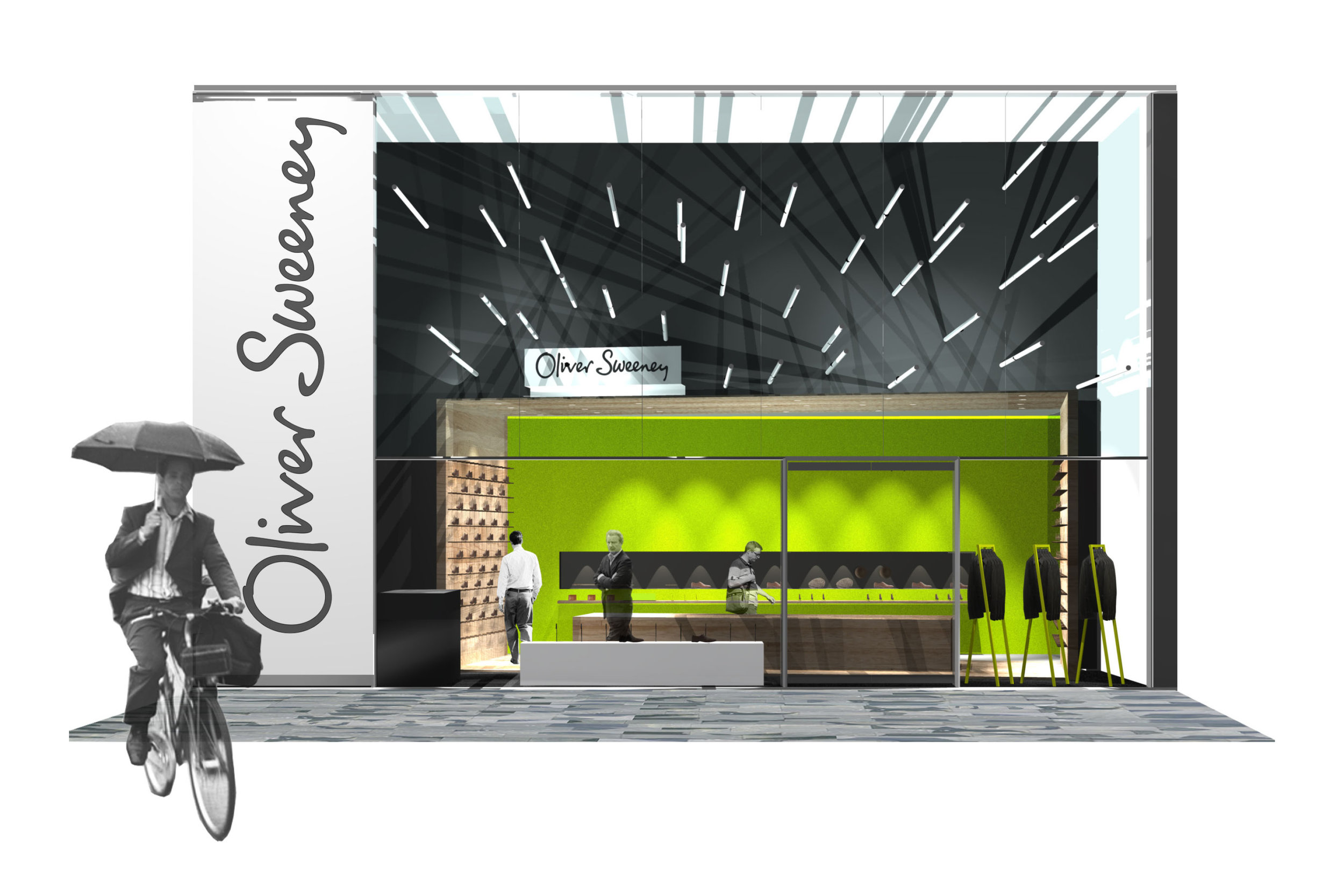 Concept Visual for Oliver Sweeney Stores in the UK
