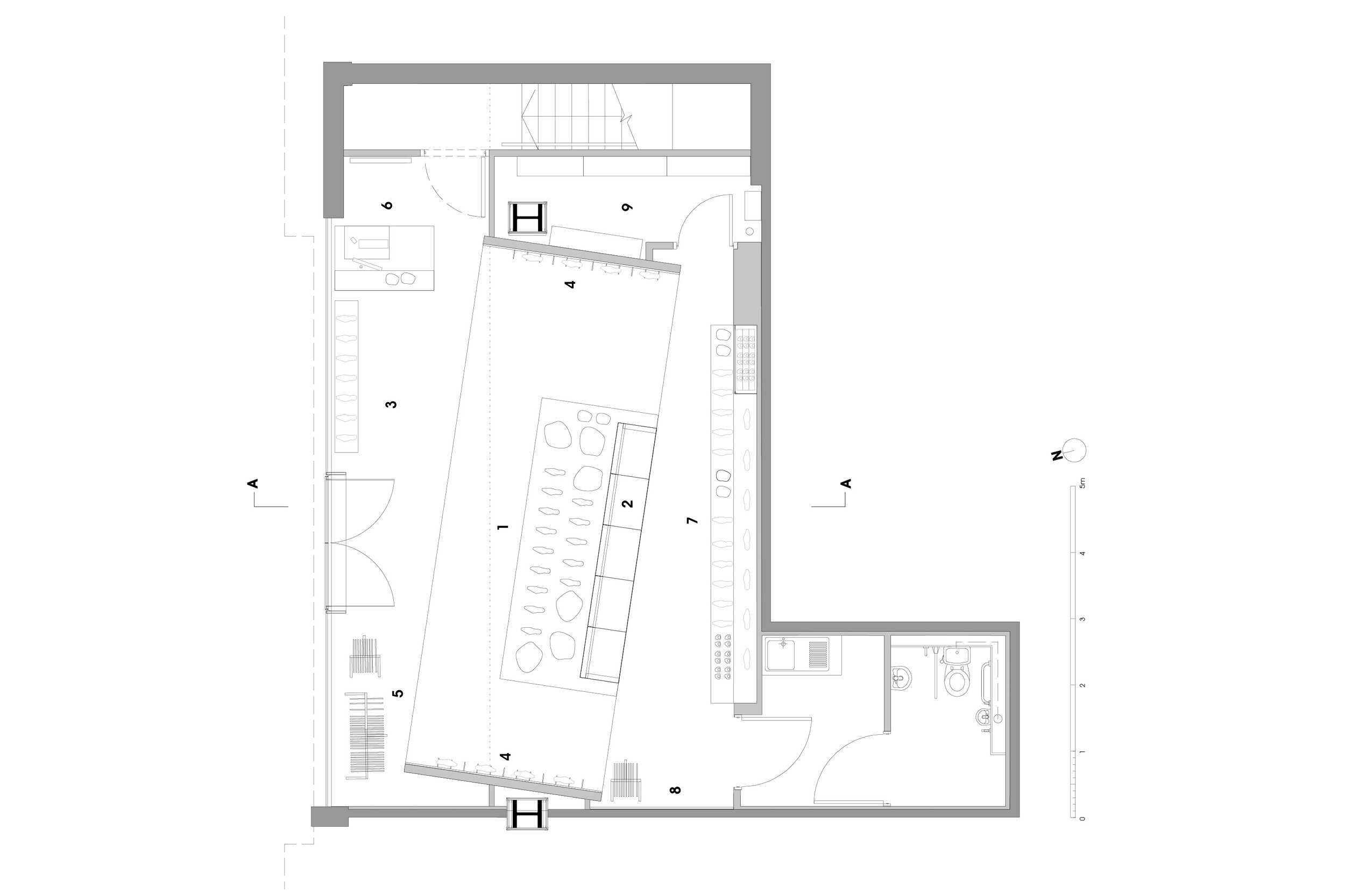 Plan of Oliver Sweeney Flagship Store
