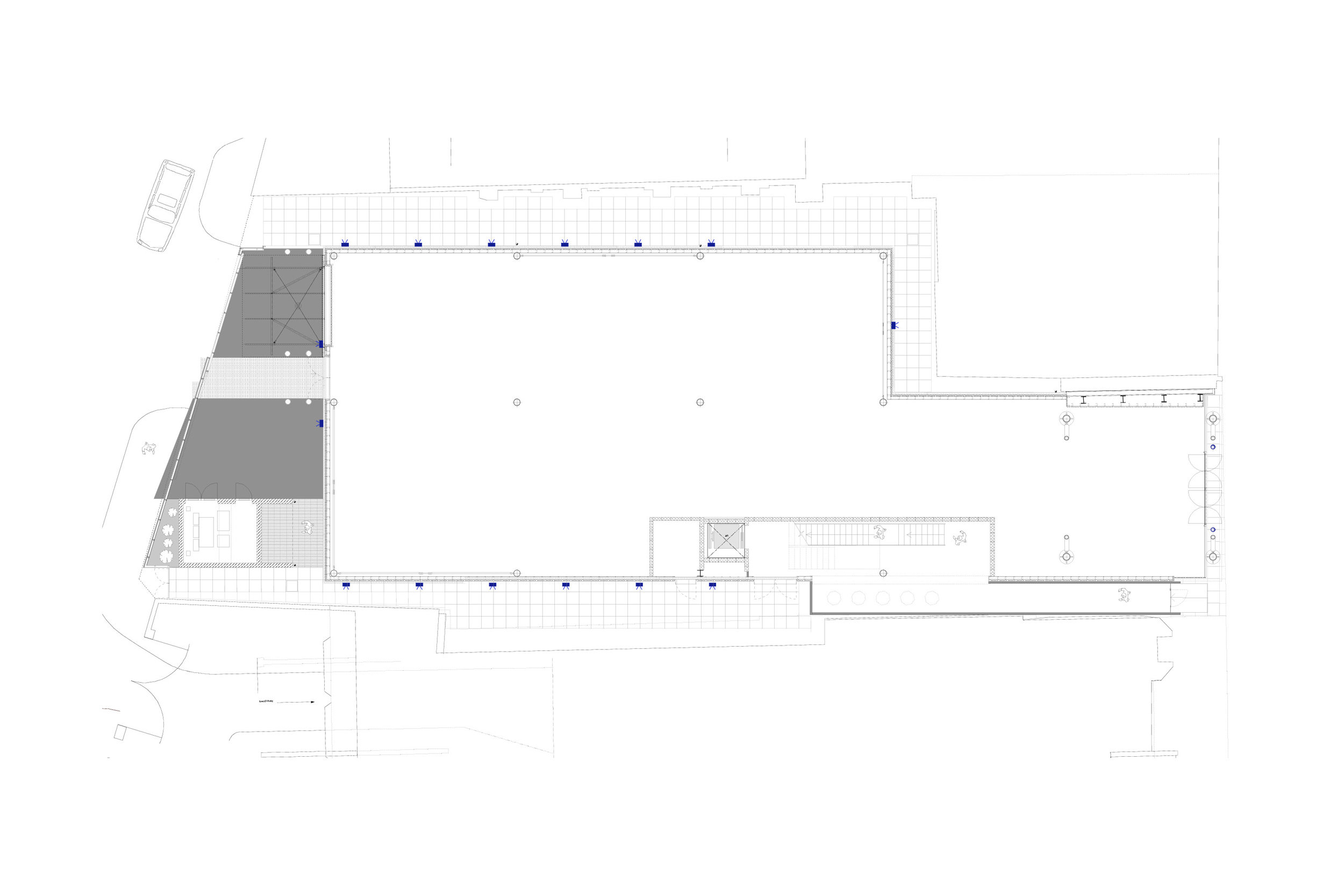 Floor Plan for Demountable Offices Designed by Mowat and Company