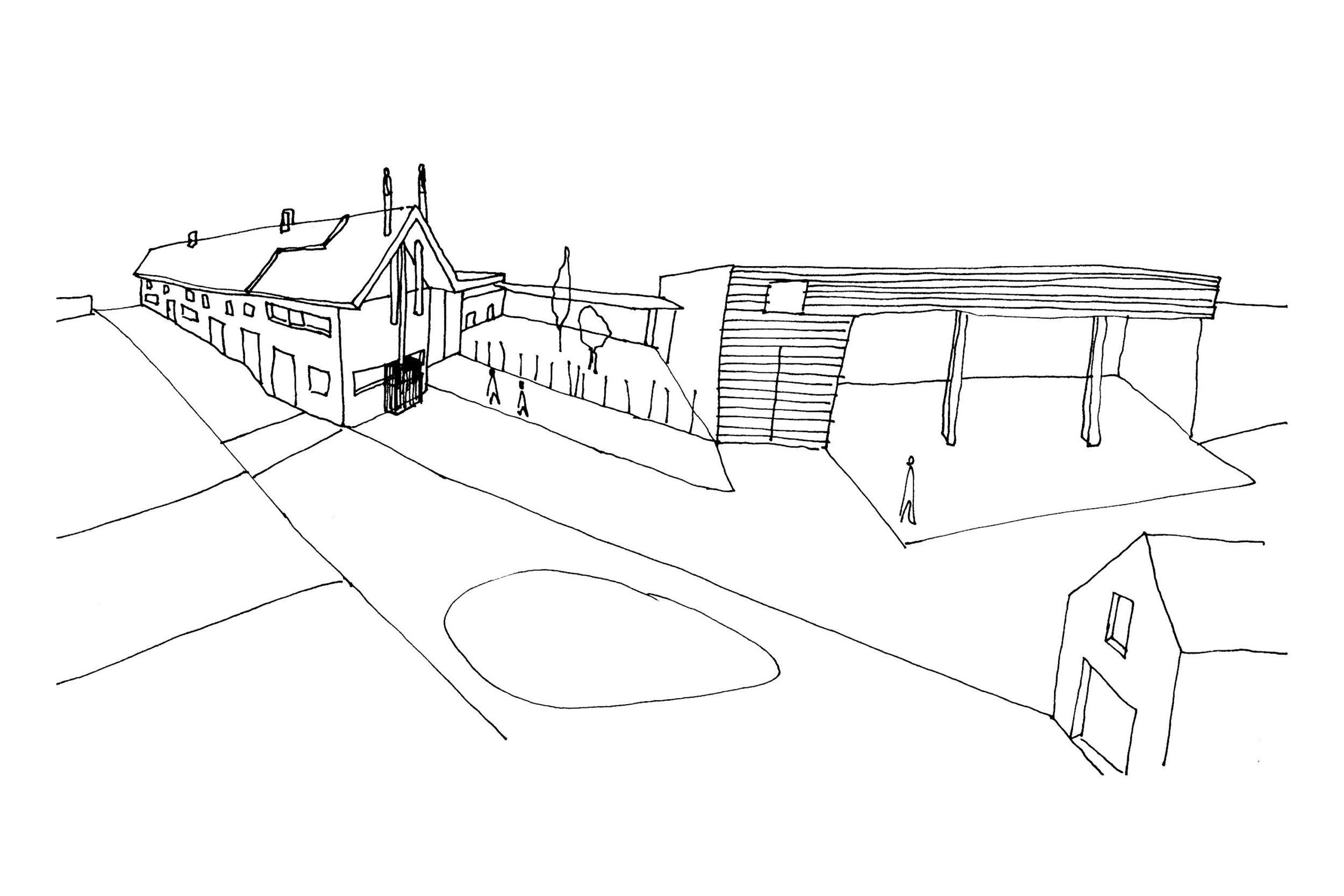 Concept Sketch of Sustainable Family Home in Somerset
