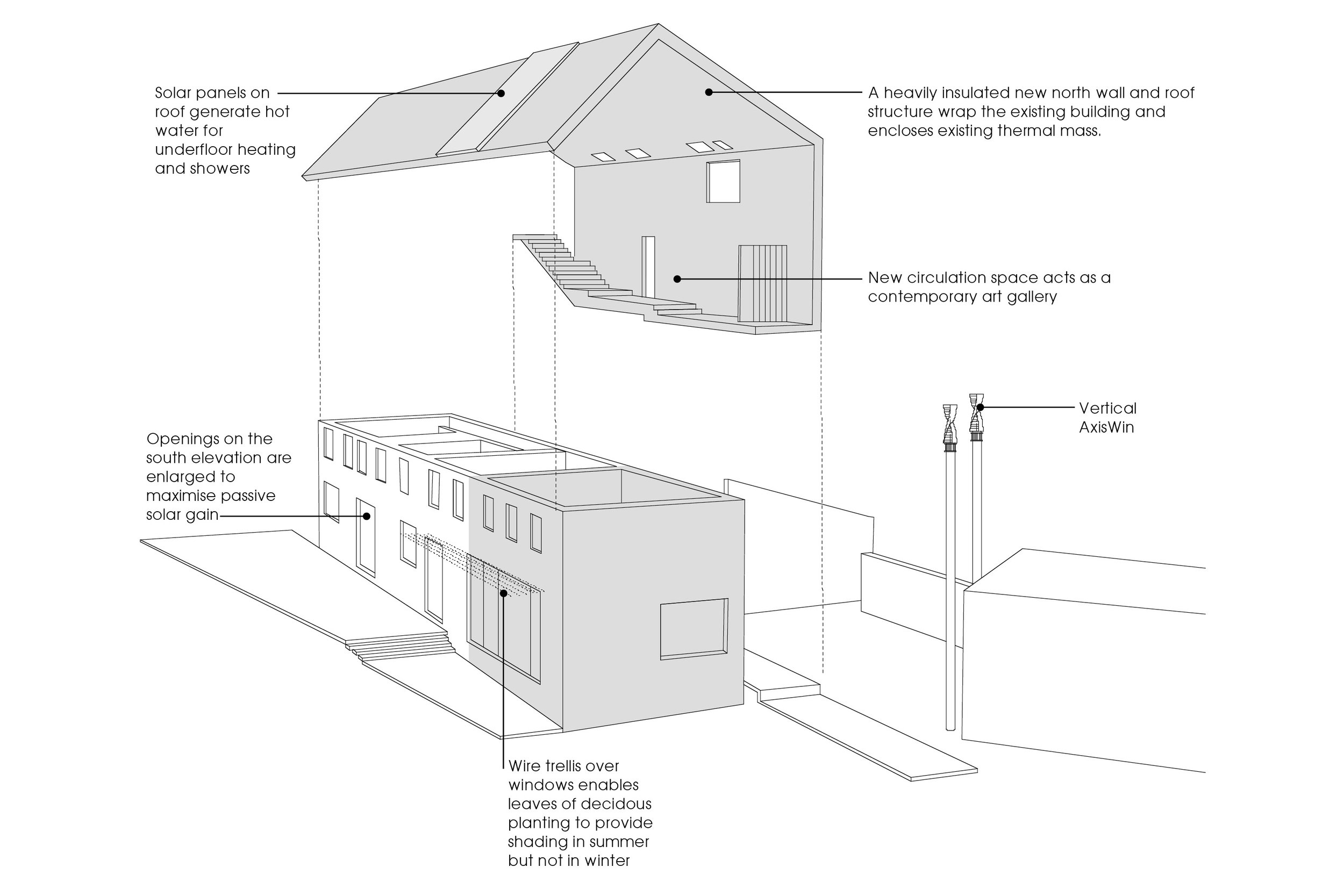 Concept Diagram of New Private Residential House in Somerset