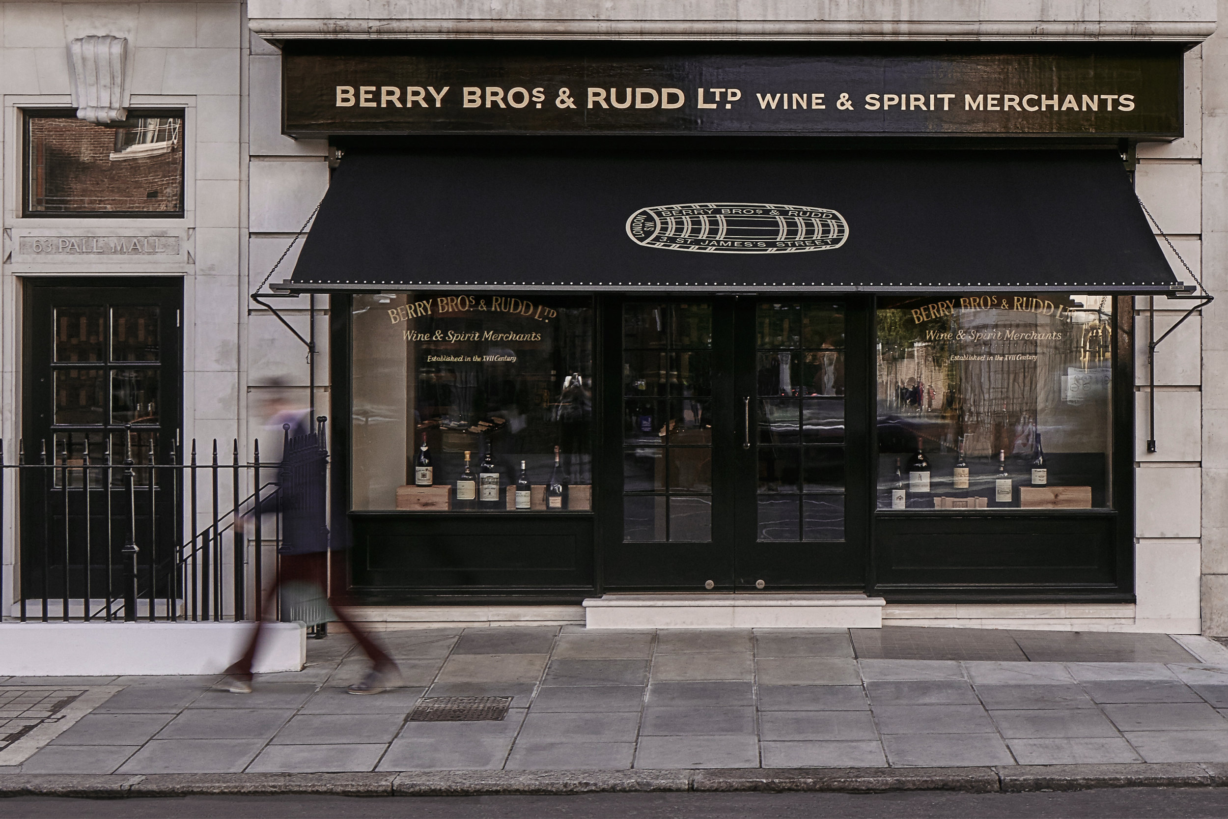 Photograph of Entrance at Berry Bros. and Rudd (BBR) Wine Shop