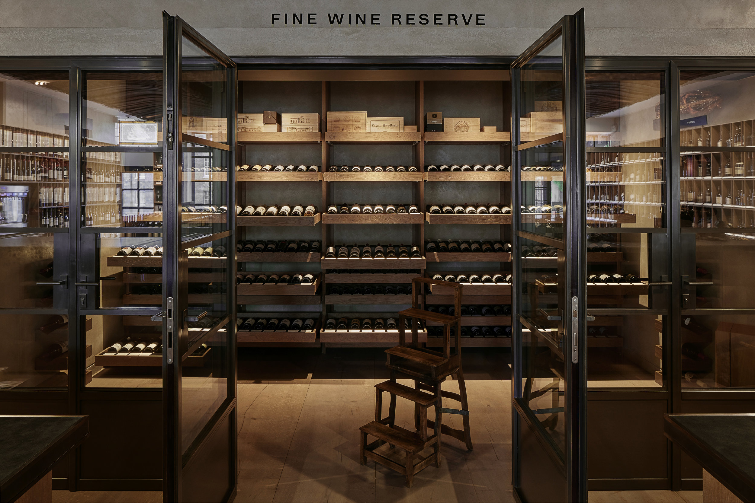 Photograph of Fine Wine Reserve at Berry Bros. and Rudd (BBR) Wine Shop