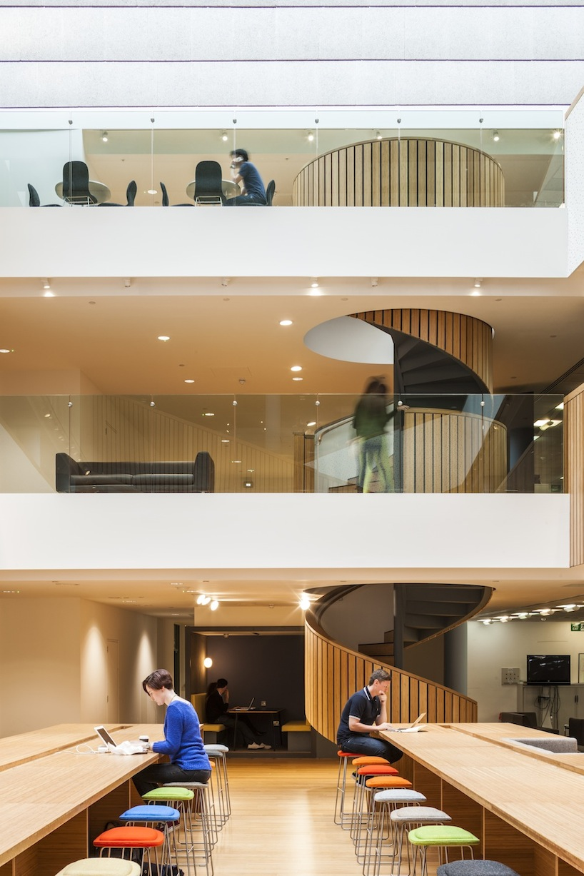 Photograph of New Staircase at Bartle Bogle Hegarty (BBH) in London