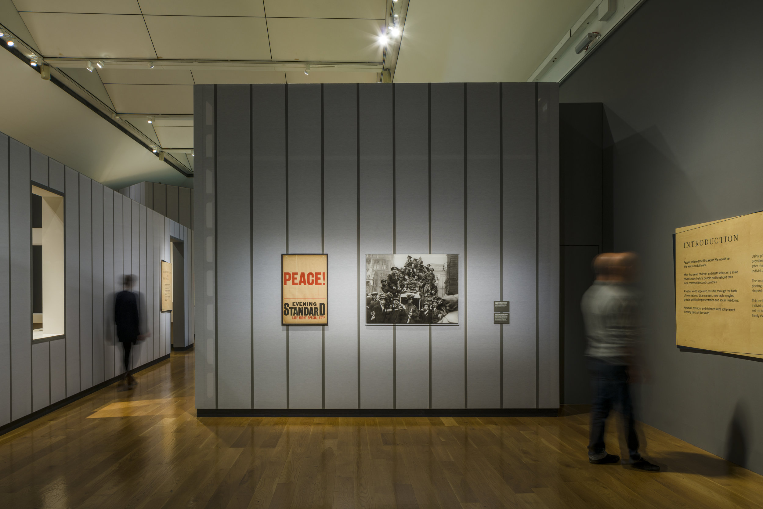 "Photograph of ""Renewal Exhibition"" Introduction Section at Imperial War Museum London"