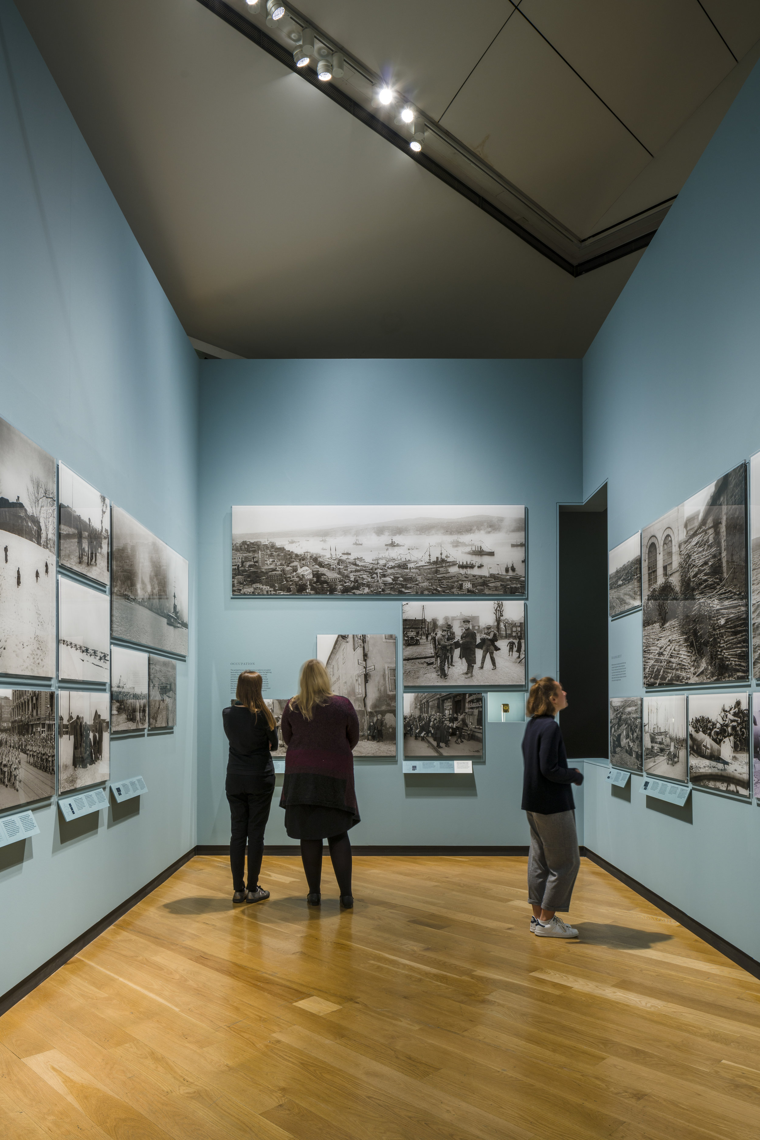 "Photograph of ""Renewal Exhibition"" Inside the ""Reshaping the World"" Room at Imperial War Museum London"