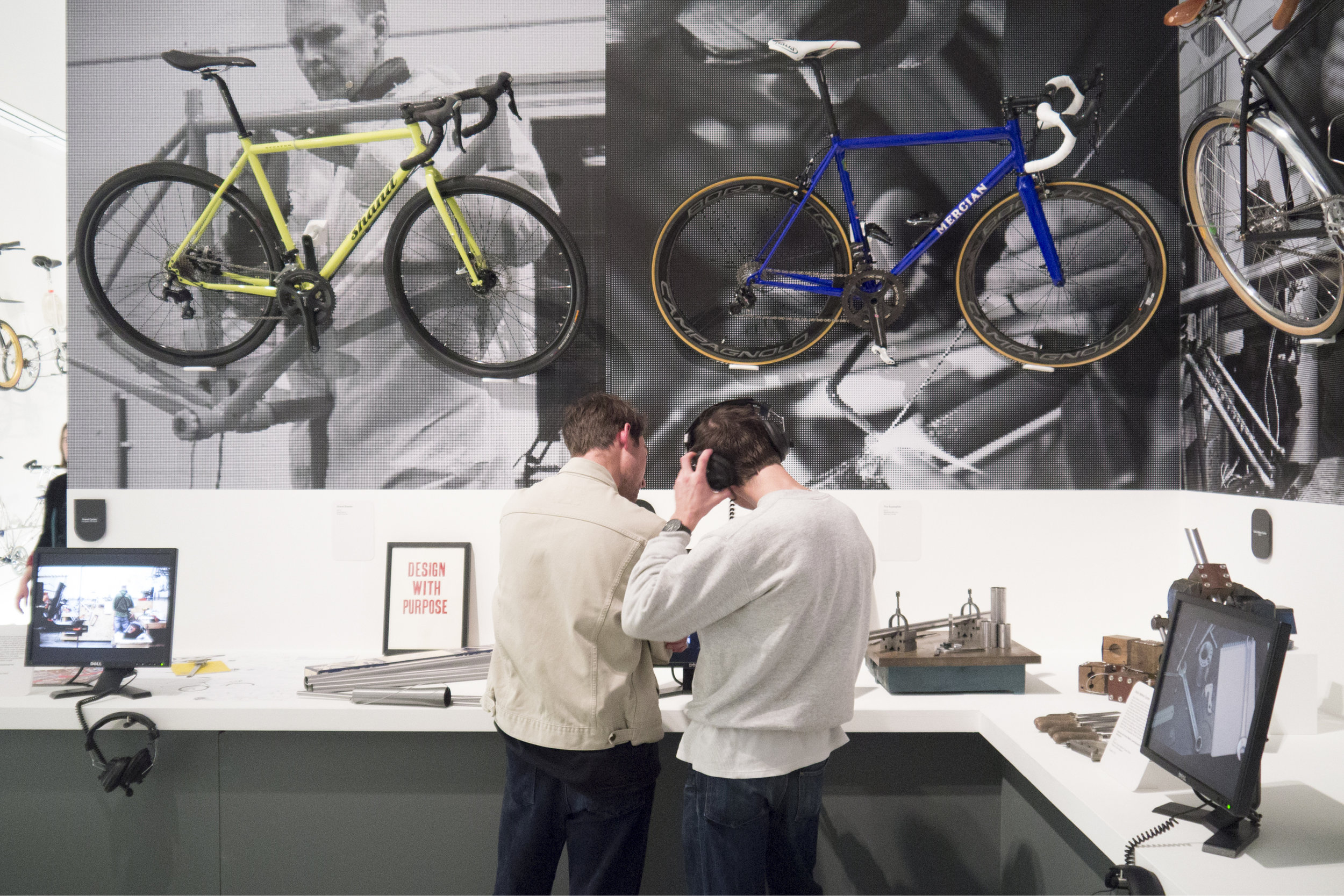 "Photograph of ""Cycle Revolution"" Exhibition at the Design Museum in London"