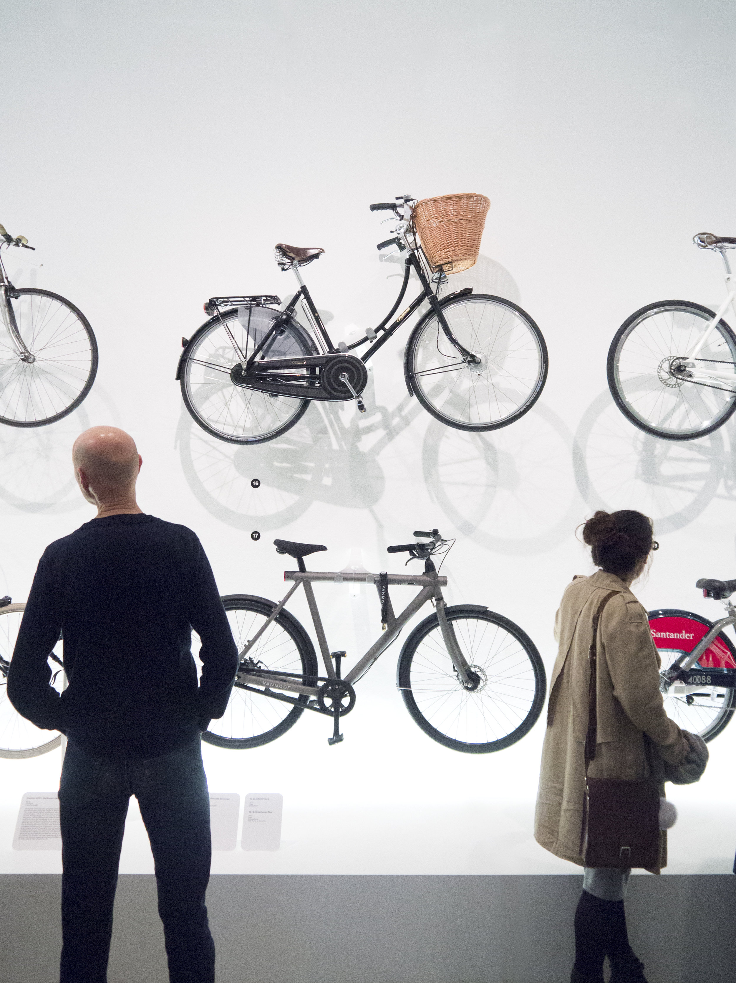 "Photograph of Load Carrying Bicycles at the Design Museum's ""Cycle Revolution"" Exhibition in London"