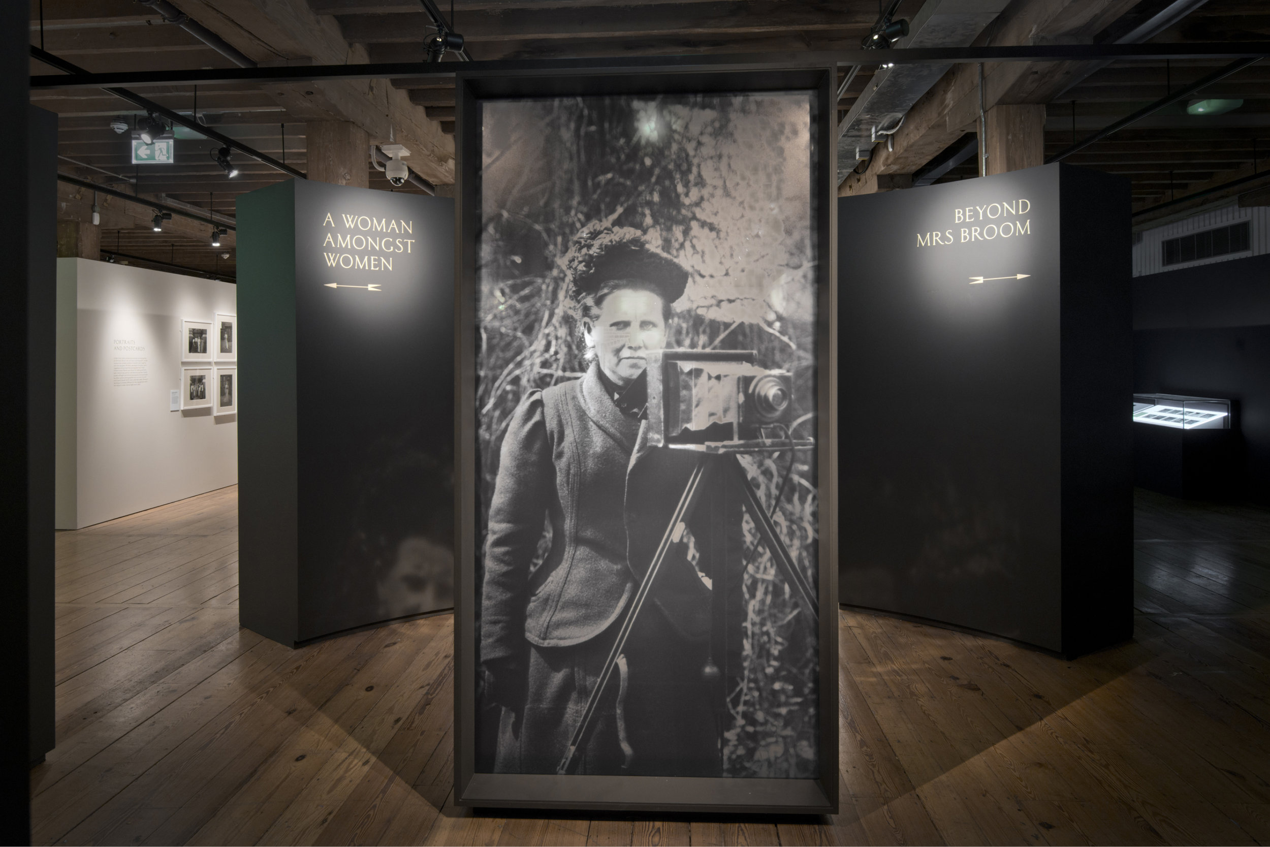 Photograph of Christina Broom Exhibition at Museum of London