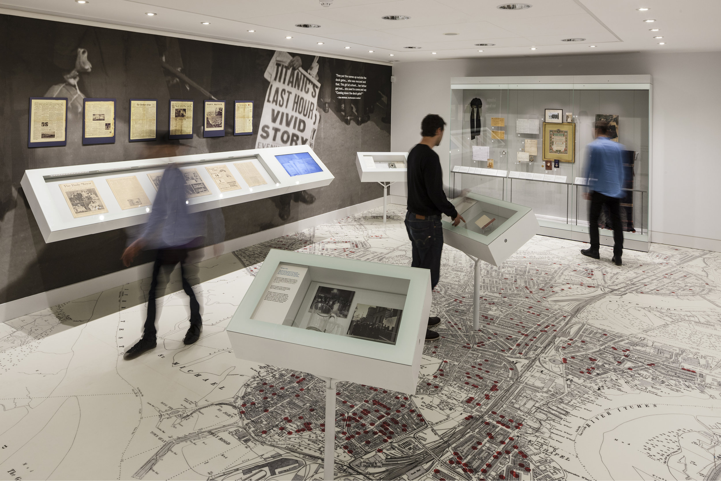 Photograph of Exhibition Design at the SeaCity Museum in Southampton