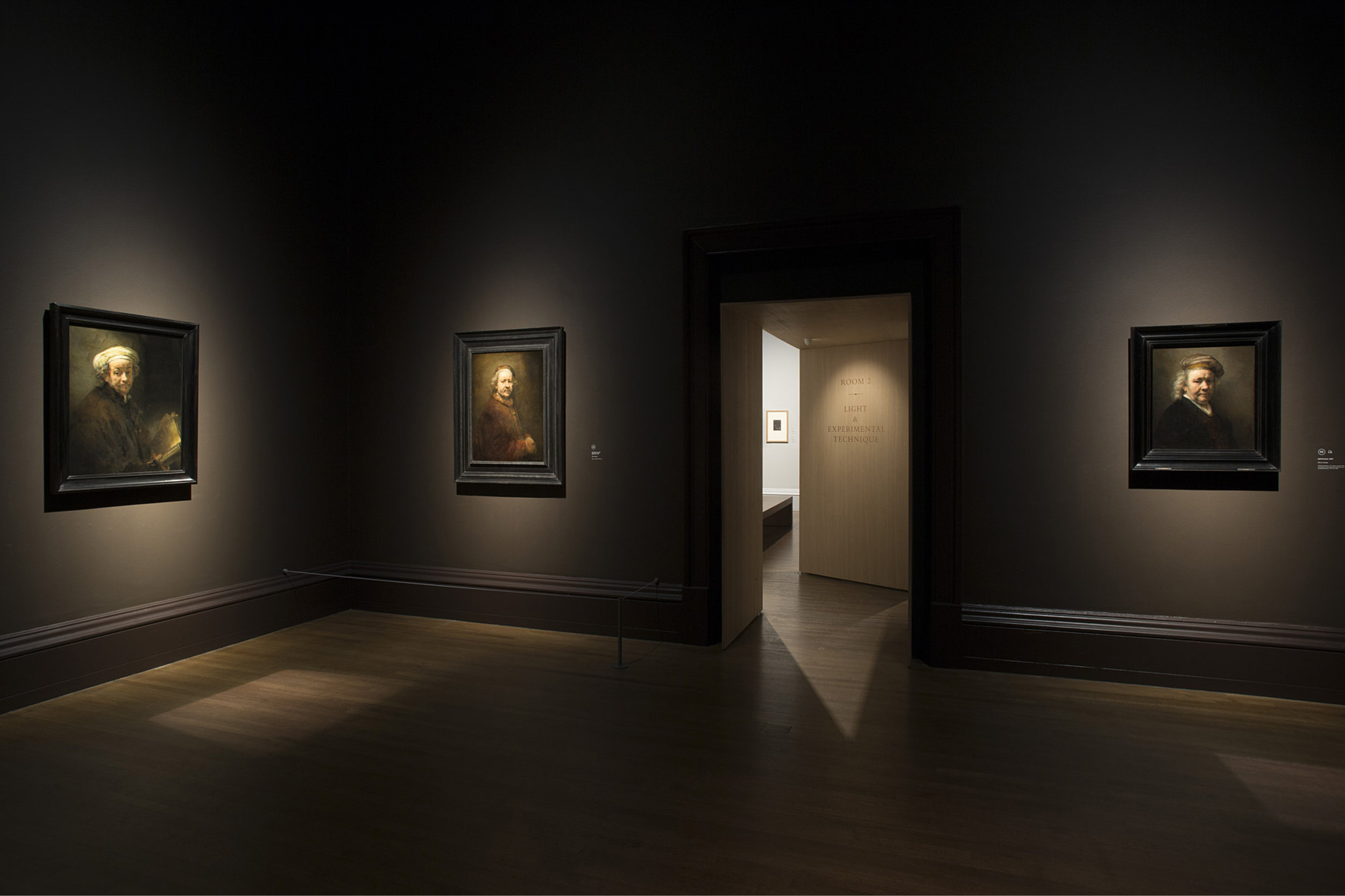 Photograph of Rembrandt Paintings at the National Gallery