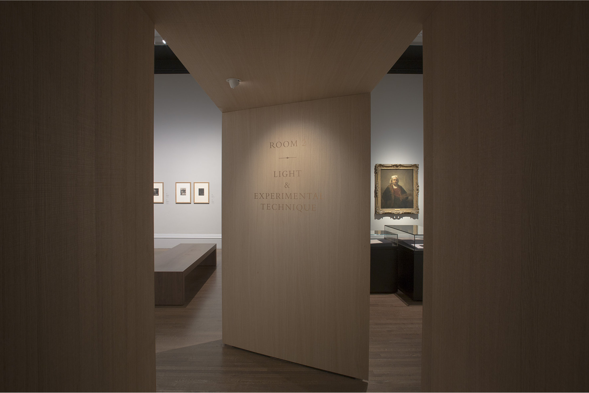 Photograph of Exhibition Design at the National Gallery in London