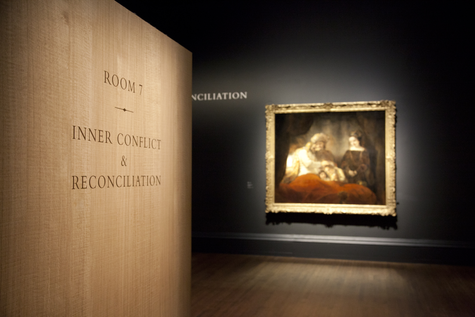 Photograph of Rembrandt Exhibition Inner Conflict and Reconciliation at the National Gallery in London