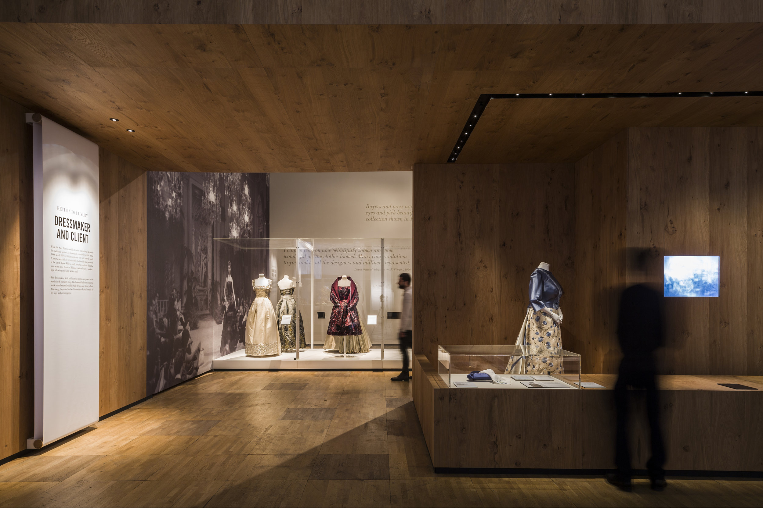 Exhibition Design for the Glamour of Italian Fashion Exhibition at the V&A Museum