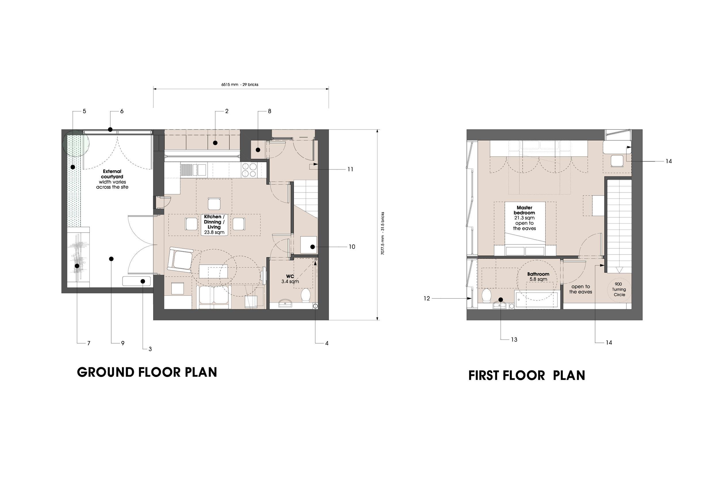 Floor Plan Design of Residential House Type at Social Housing Development in Hackney