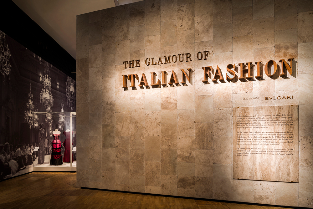 The Glamour of Italian Fashion Exhibition at the Victoria and Albert Museum