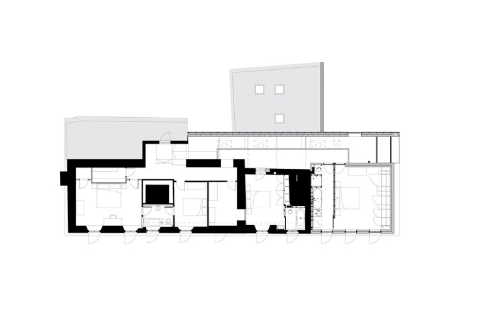 Floor Plan of Eco House in Somerset by Mowat and Company Architects
